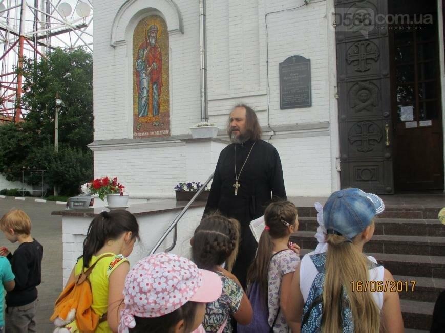 Никопольские школьники могут узнать больше об истории, устройстве и чтимых иконах Спасо-Преображенского собора, фото-5