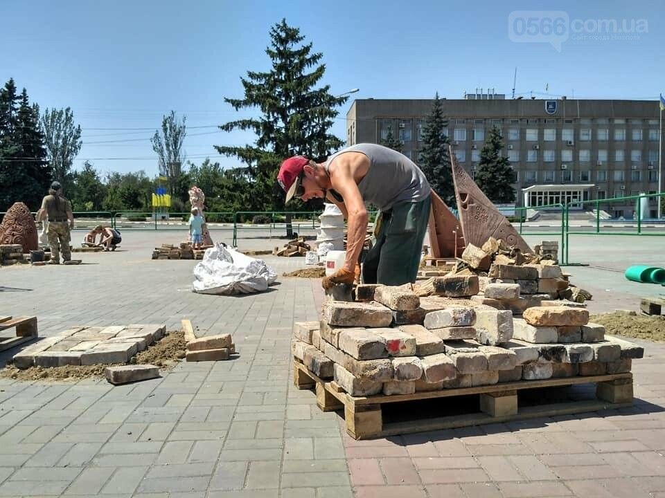 """Подготовка к обжигу скульптур: Никополь """"Скиф и я, Скифия"""" , фото-1"""