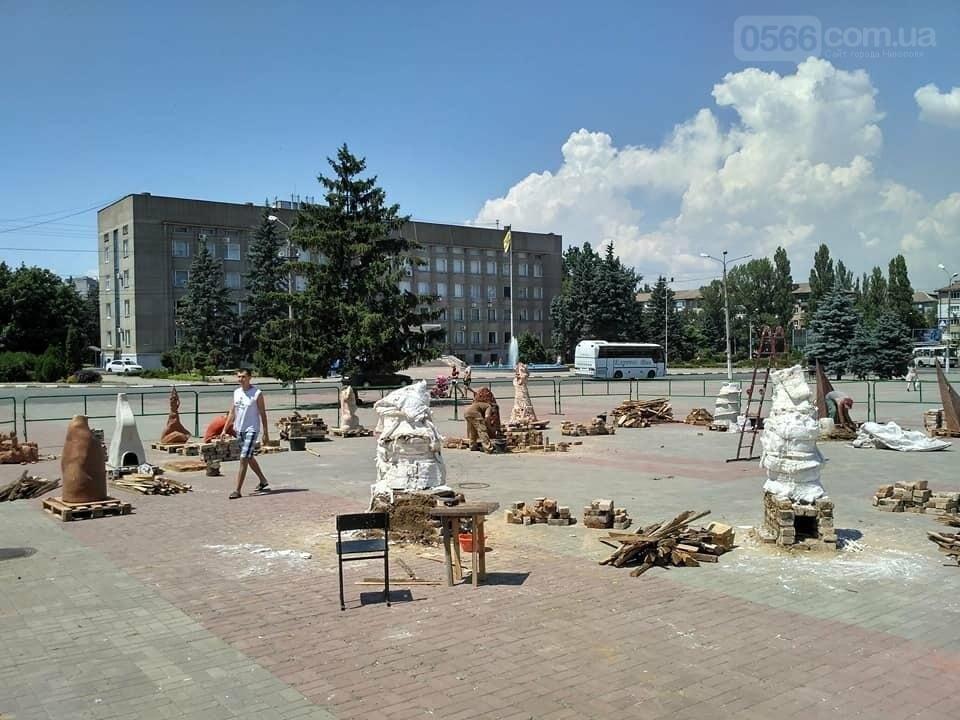 """Подготовка к обжигу скульптур: Никополь """"Скиф и я, Скифия"""" , фото-2"""