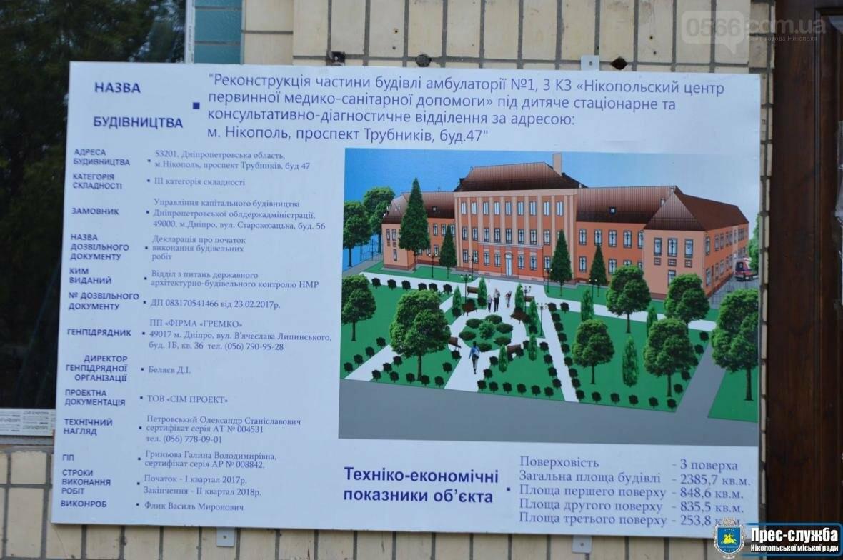 В Нікополі продовжується реконструкція дитячого діагностичного центру, фото-1