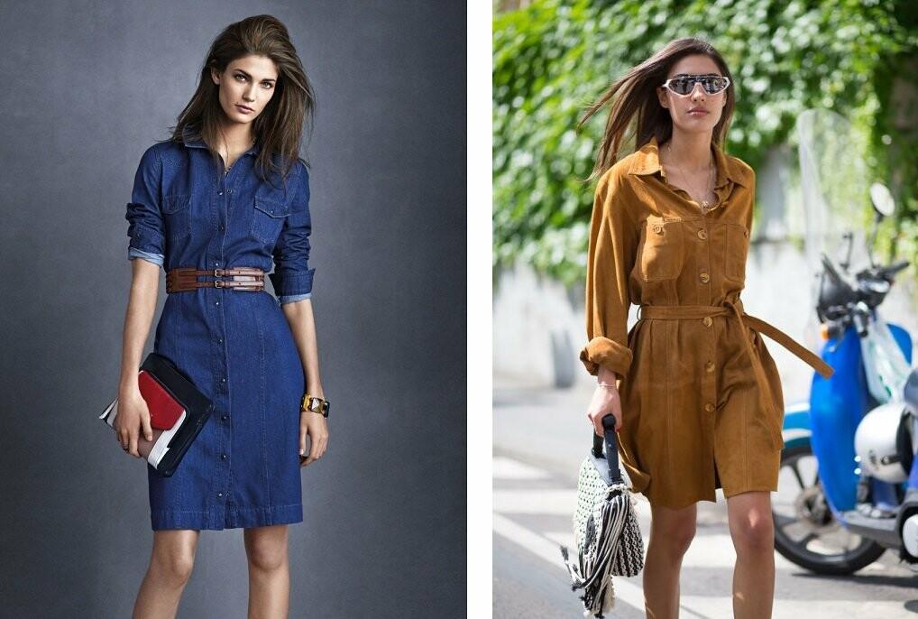 Модные женские платья рубашки от issaplus
